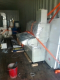 Removal of printing machinery for Africa