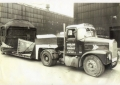 Scammel tractor unit with 4 in line low loader