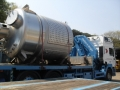 Stainless steel vessel installation
