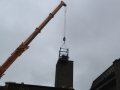 Installation of Chimney stack.