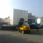 Relocation of machine parts.