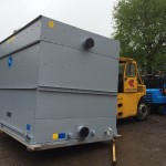 Installation of Cooling Towers and Chiller units.
