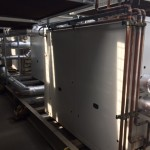 Complete installation of plant room chiller units, duct work, pumps, etc.