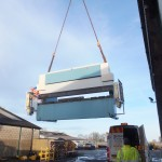 Relocation of 18 ton press brake