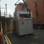 Delivery and installation of 3 off chiller units at major Hospital in the North East of England.