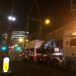 Exchanging of 10 ton chiller unit in Manchester City Centre.
