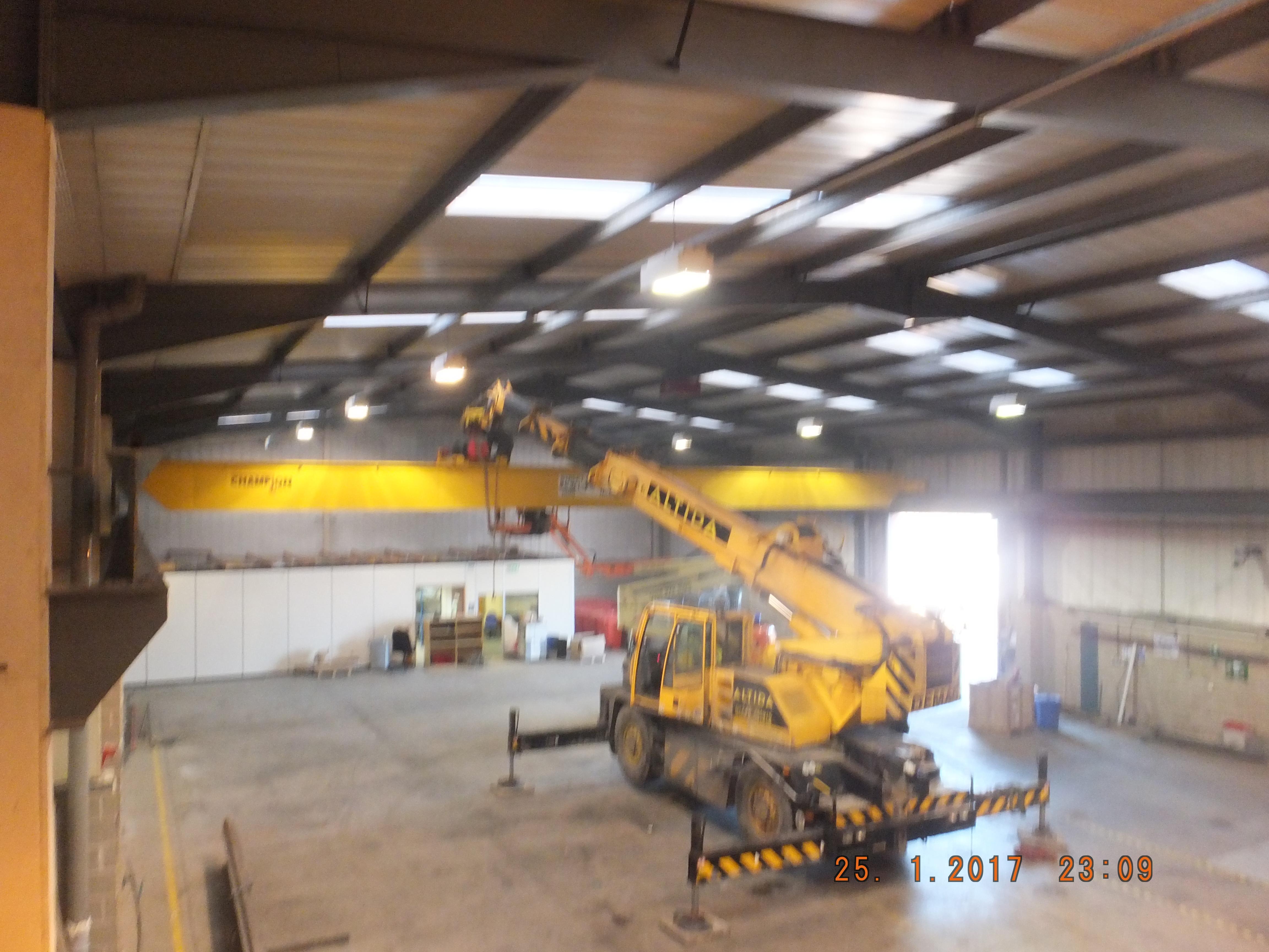 Overhead Crane Parts Uk : Hanlon wright ? ton overhead crane removal